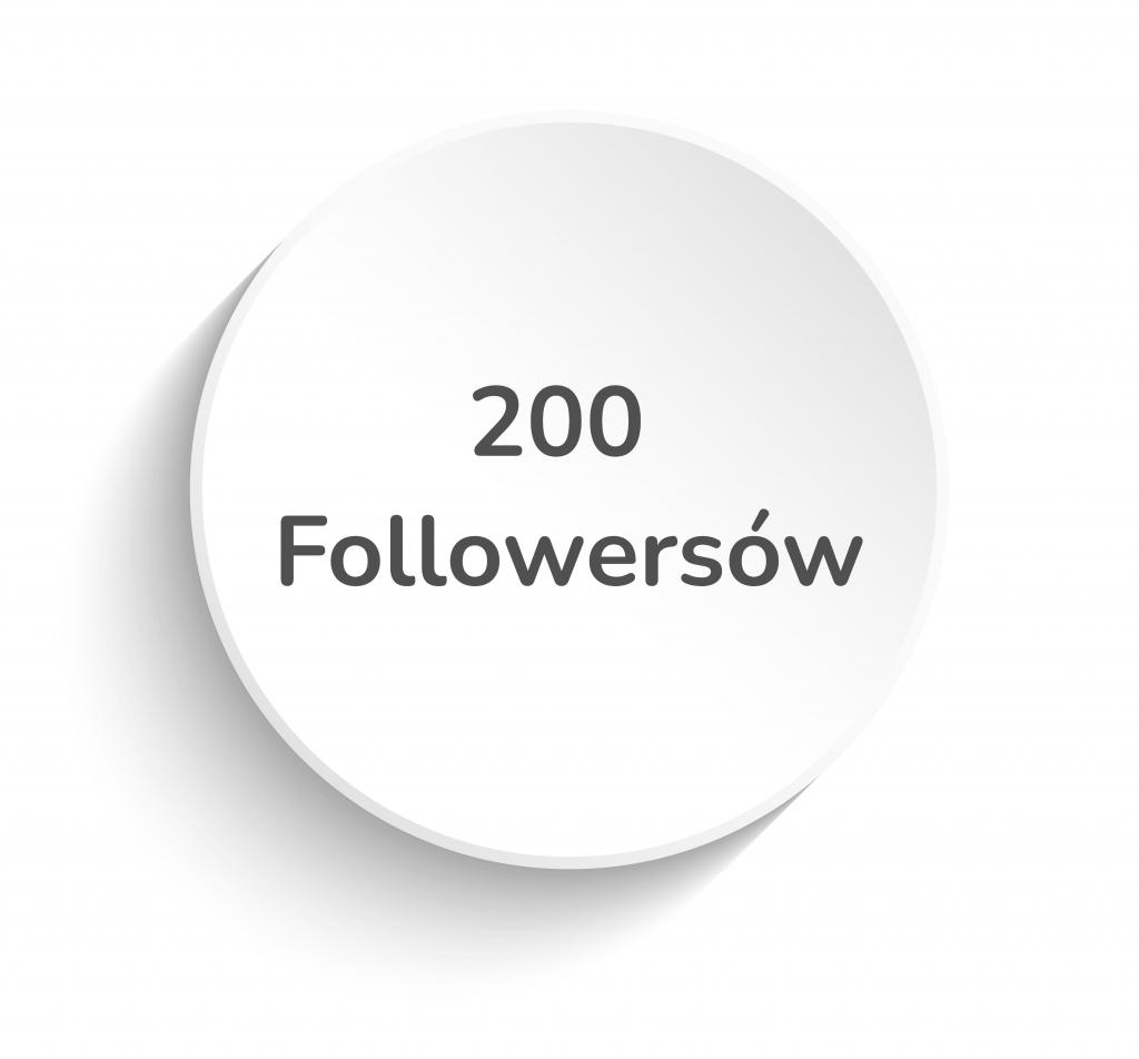 200 followersów